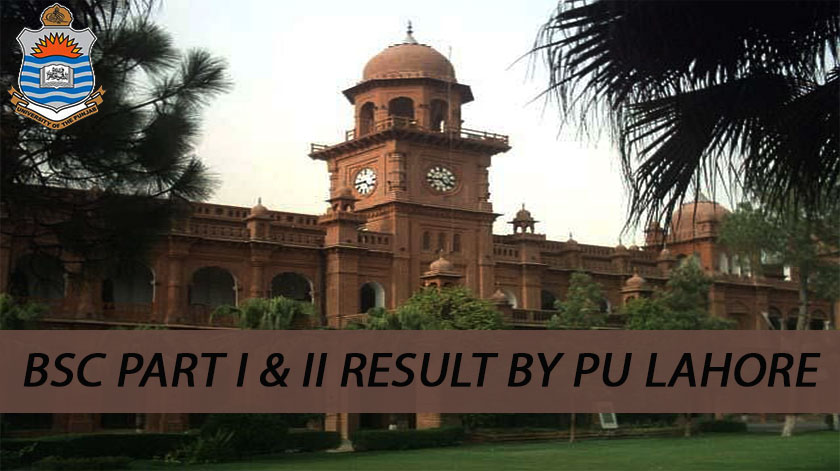 bsc part 1 & 2 result pu lahore